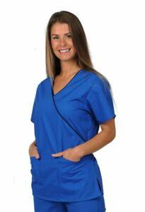DICKIES Ladies Mock Wrap Scrub Top Nurses Dental Tunic Medical Uniform HC11601