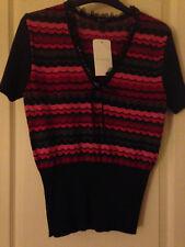 Authentic Designer ESCADA Fine Knit Virgin Wool Blouse Size 40 (UK 10/12)  BNWT