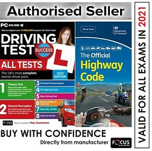 2021 Driving Theory Test & Hazard CD Rom DVD Official Highway Code Book *atpcHw