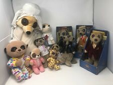 11 Meercat soft toy bundle VGC 3 In Boxes & 5 With Tags Different Sizes