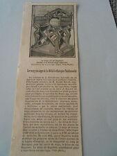 Le Moyen Age à la Bibliothèque Nationale Siège Dagobert Article Print 1928