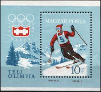 Ungarn. 1964. Olympische Winterspiele, Innsbruck (II) (Postfrisch) Blockausgabe