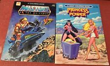 1982 Masters of the Universe HE-MAN 1986 Princess of Power SHE-RA Coloring Books