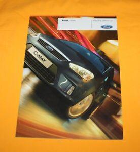 Ford C-Max 2009 Prospekt Brochure Catalogue Depliant Prospetto Prospecto