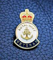 HM Royal Navy British Veteran enamel pin lapel badge UK 2021