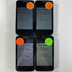 Lot of 4 Alcatel Onetouch Evolve 5020N Metro PCS *Check IMEI*