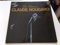DOUBLE 33 TOURS / 2 LP--CLAUDE NOUGARO--UNE SOIREE AVEC CLAUDE - LIVE