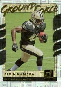 2017 Panini Donruss Ground Force Alvin Kamara #19 Rookie New Orleans Saints