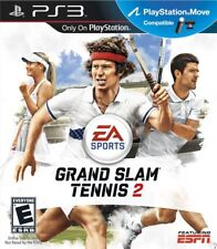GRAND SLAM TENNIS 2 PS3! MOVE COMPATIBLE! PETE SAMPRAS, ROGER FEDERER, WIMBLEDON