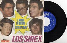 LOS SIREX - El Mundo En Navidad / Estrella Fugaz, SG SPAIN 1966