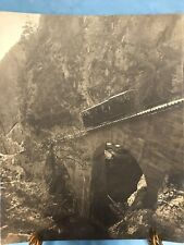 VINTAGE SPEPIA PHOTO OF CABLE CAR IN ALPS----------------------------------gc