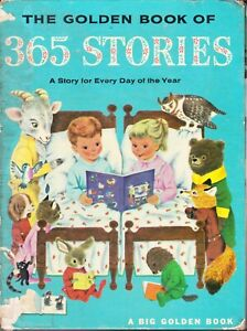 Golden Book of 365 Stories Jackson Scarry Big Hardcover 1962 Ninth Printing