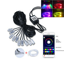RGB LED 10M Car Neon EL Fiber Optical Strip Light App Control Atmosphere Light