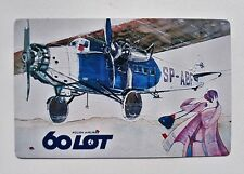 LOT Polish Airlines pocket calendar 1989