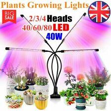 2/3/4-Head 40/60/80LED Grow Light Growing Veg Flower Indoor Clip Plant Lamp 2020