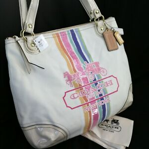 NWT COACH 19615 Heritage Horse and Carriage Nature Shoulder Glam Tote Bag NEW