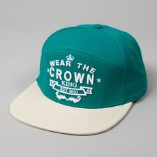 King Wear The Couronne Supreme turquoise LAINE casquette visière plate