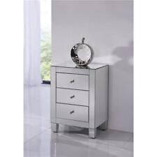 Mirrored Living Dining Room Bedroom Bathroom Office Cabinet 3 Draw Dresser Table