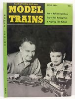 Vintage Model Trains How To Magazine Back Issue April 1954