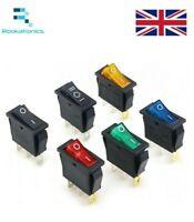 Rettangolare a Scatto Neon Interruttore Bilanciere su / Off 3 Pin Rosso Verde