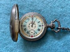 Wind Up Pocket Watch Vintage Swiss Made Caravelle Mechanical