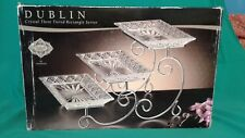 Dublin Crystal Three Tiered Rectangle Server By Godinger Shannon Crystal