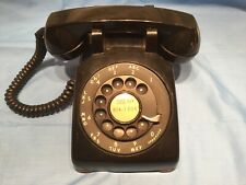 Vtg Black Western Electricrotary Phone With Metal Dial C/D 500 6-58 Untested