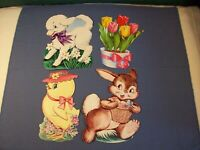 EUREKA Easter die cuts Vintage lot of 4 made in USA