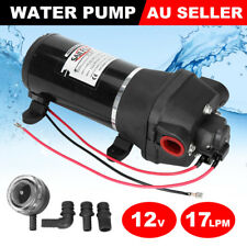 12V Water Pump 17LPM High Pressure Self-Priming Caravan Trailer Camping Boat