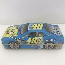 SPONGEBOB SQUAREPANTS LOWES 48 NASCAR RACING Metal Tin 2004 Gift Card Holder