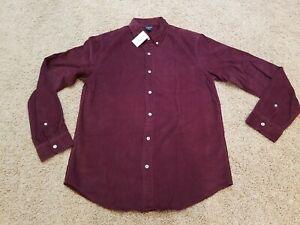 New Men's J. Crew Corduroy Button Down Shirt Size M