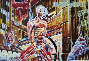 "IRON MAIDEN ""SOMEWHERE IN TIME ARTWORK"" POSTER FROM ASIA - Heavy Metal Music"