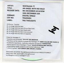 (EN519) Nostalgia 77, An Angel With No Halo - 2013 DJ CD