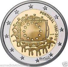 Pièce 2 euros PORTUGAL 2015 - 30ème anniversaire du drapeau européen - UNC