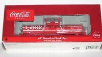 """Athearn Coca Cola 40' Tank Car-""""COKE"""" -NEW / Never Run   HO Scale"""