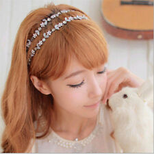 Stylish Women Elastic Metal Rhinestone Crystal Headband Head Chain Hair Band New