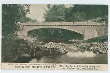 Stokes Seed Store Advertising! Wissahickon Bridge PHILADELPHIA PA UDB Postcard