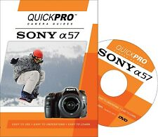 QUICKPro Training DVD Sony A57 - >NEW< Free US Shipping