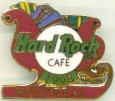 Hard Rock Cafe MONTREAL 1998 CHRISTMAS PIN Santa's Holiday Sleigh XMAS Presents