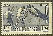 "FRANCE TIMBRE STAMP N°396 ""3e COUPE MONDIALE DE FOOTBALL A PARIS"" OBLITERE TB"
