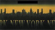 Tappeto di gomma antiscivolo 54x110 cm. con immagini New York color nero giallo
