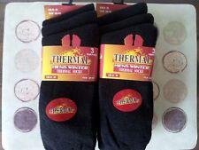 6 Pairs Mens Black Winter Wram Thermal Socks 6-11