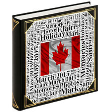 Personalised large photo album, guestbook, 400 6x4 photos, Canada holiday gift