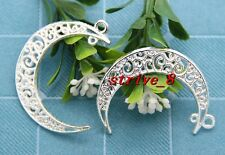 5/20/100pcs Tibet Silver Beautiful Moon Jewelry Finding Charm pendant 41x30mm