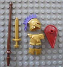 Custom JOUSTING KNIGHT Gold Champion ARMOR & WEAPON PACK for Lego Minifigures