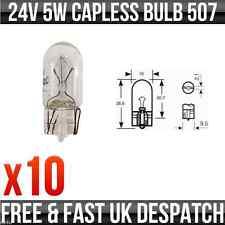 24v 5w sans capuchon W5W W2.1 x 9.5d côté et queue ampoules 507 pack de 10