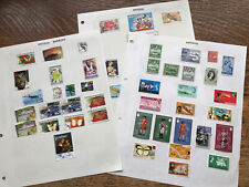 Collection Of ANTIGUA & BARBUDA STAMPS Hinged On Paper