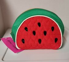 BETSEY JOHNSON KITSCH Cosmetic Makeup Bag Case Stud Watermelon NWT