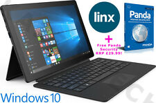 "Linx 12X64 12.5"" FHD Intel Quad Core 64GB 4GB Windows 10 Tablet Keyboard Dock"