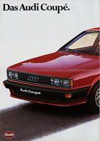 Audi Coupé Prospekt 1980 8/80 Autoprospekt brochure brosjyre prospectus Auto